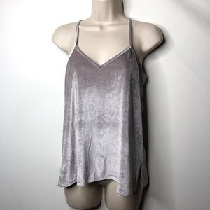 Madewell grey silver tank top xs A1